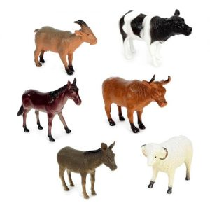 فیگور مدل حیوانات اهلی مجموعه 6 عددی